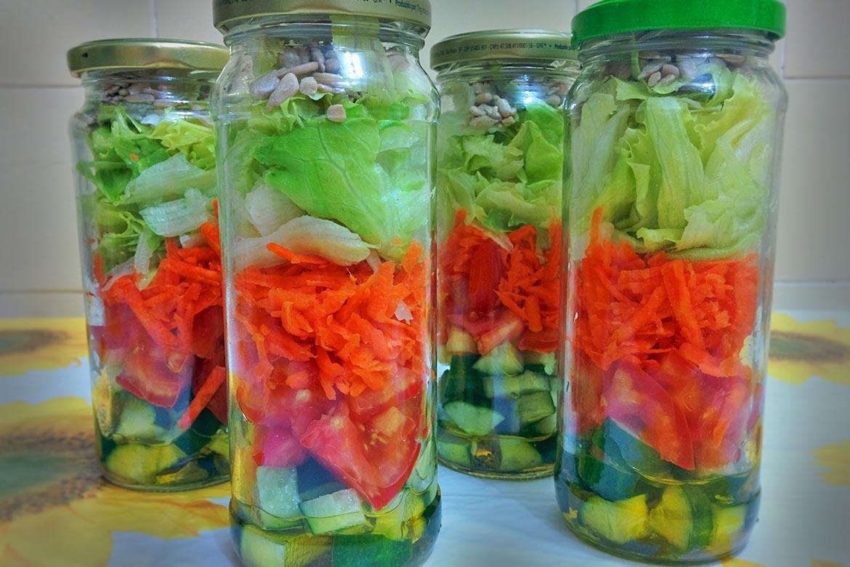 como fazer salada no pote