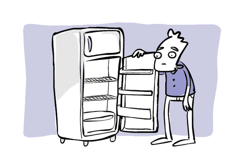 nada na geladeira