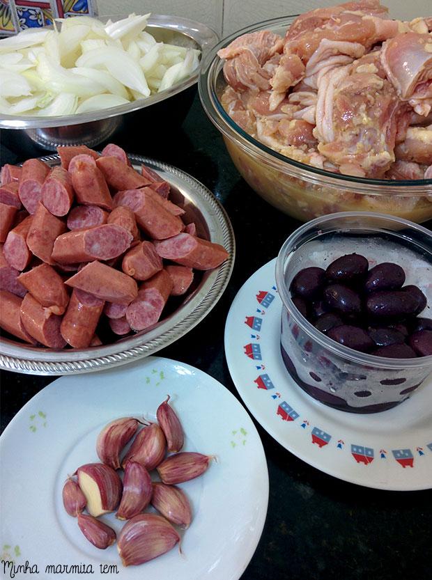 ingredientes frango a espanhola