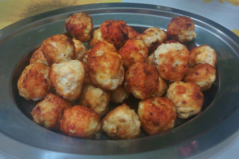 receita de almôndegas de frango