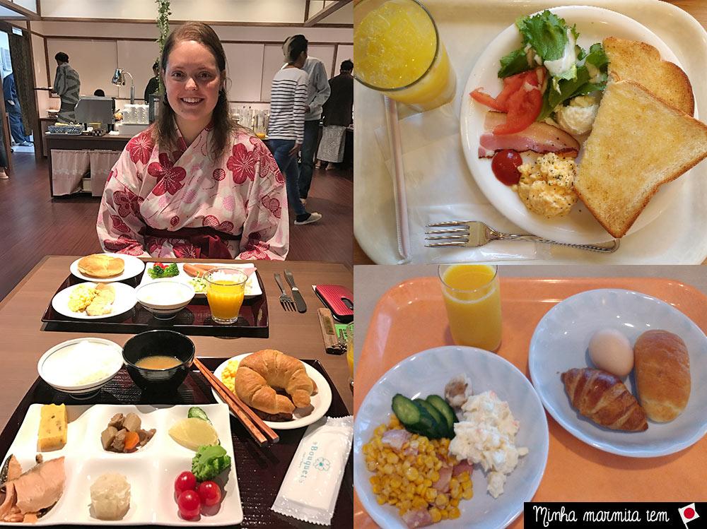café da manhã hotel japonês