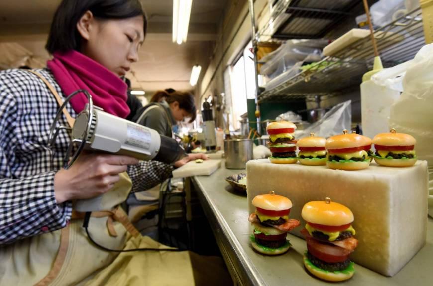 comida japonesa de plástico