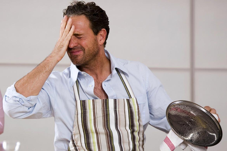 maiores erros na hora de cozinhar