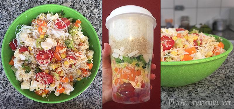 cardápio semanal para salada