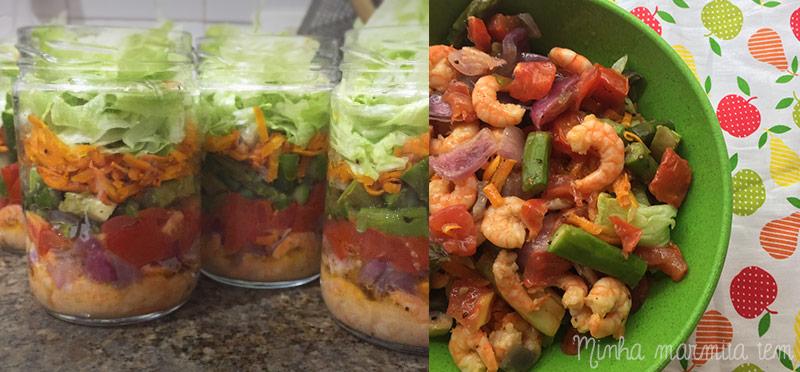 receita salada com camarão