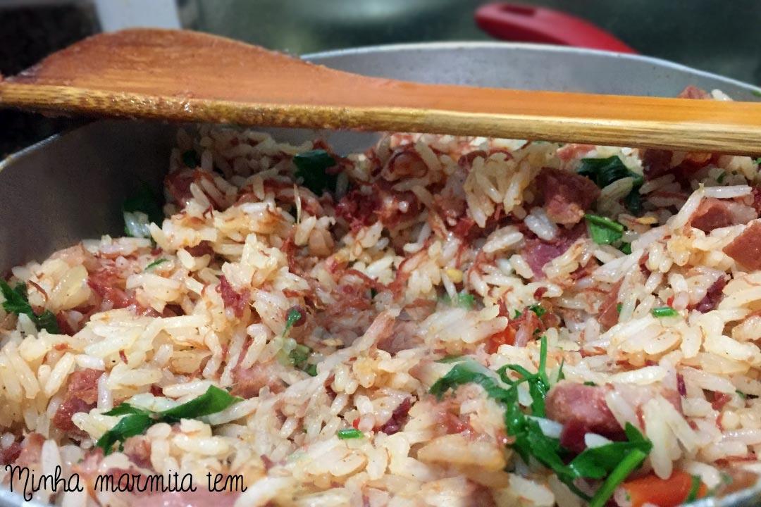 receita de arroz carreteiro para marmita