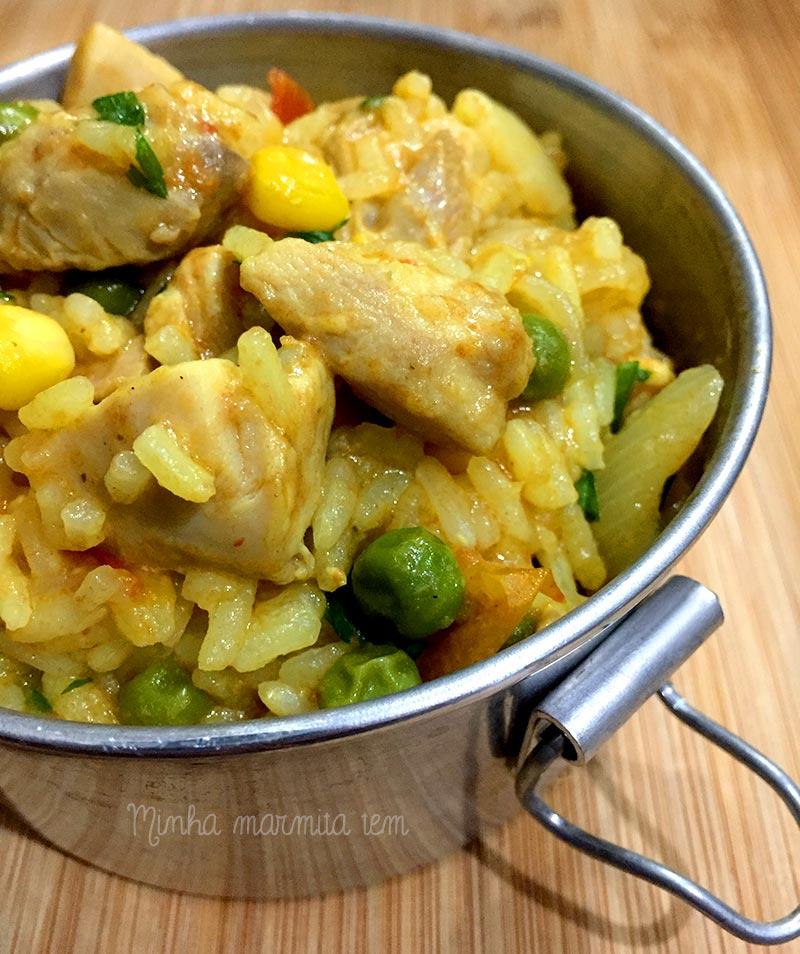 receita de galinhada para marmita