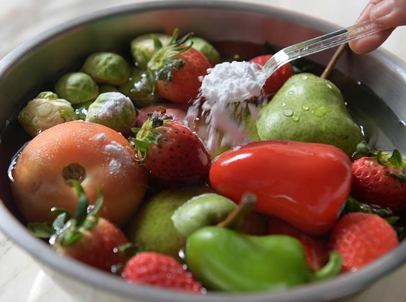 como limpar legumes antes do consumo