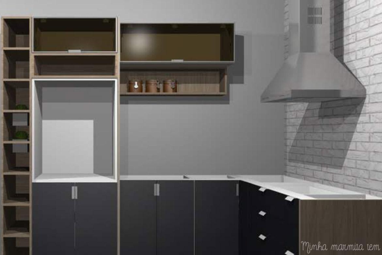 projeto 3D para reforma de cozinha
