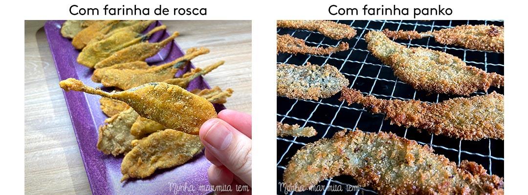 qual a diferença entre farinha de rosca e panko